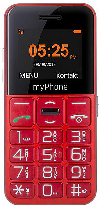 myPhone SENIOR - CPA Halo EASY, Red / červený